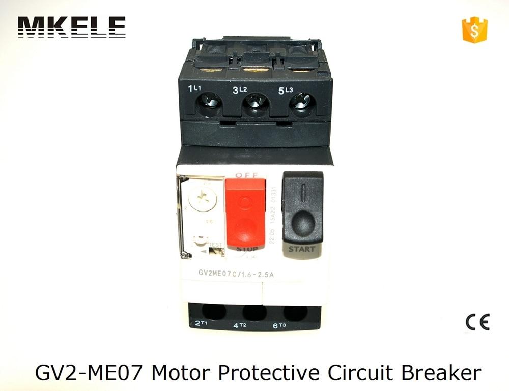 цена на GV2-ME07 China factory supply GV2-ME Motor Protector Circuit Breaker soft starter 50/60Hz 660V GV2-ME with low voltage