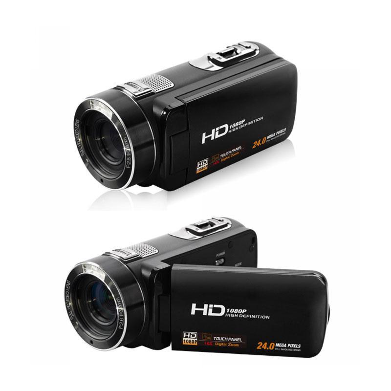 3.0'' inch 8MP HD 1080P 72 degree Digital 16X Zoom Camera DV Camcorder RC Anti Shake Black Multilanguage US plug cheerson cx 20 cx20 rc quadcopter original parts sports hd dv camera 12 0mp