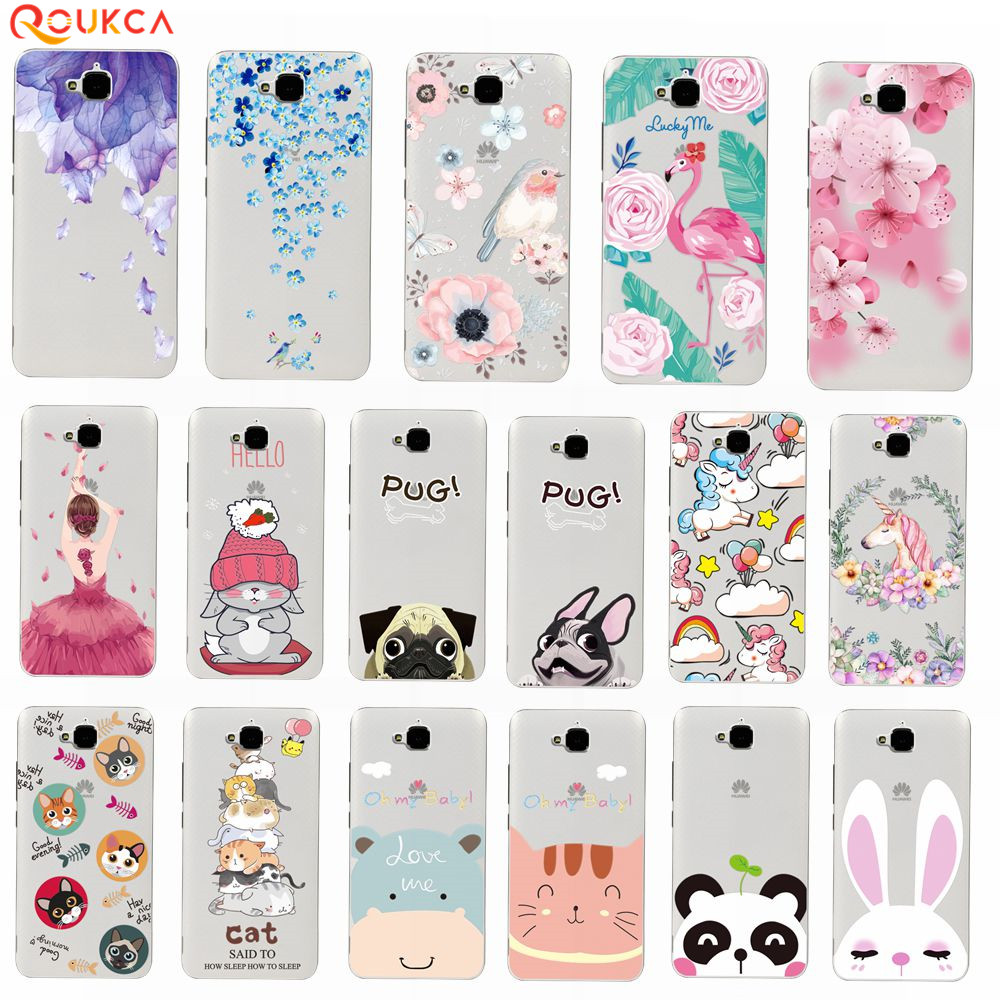 Lace Relief TPU Case For Huawei Honor 4C Pro Colorful TPU Cover For Huawei Y6 Pro 5.0