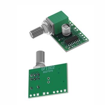 цена на Mini PAM8403 DC 5V 2 Channel USB Digital Audio Amplifier Board Module 2 * 3W Volume Control with Potentionmeter