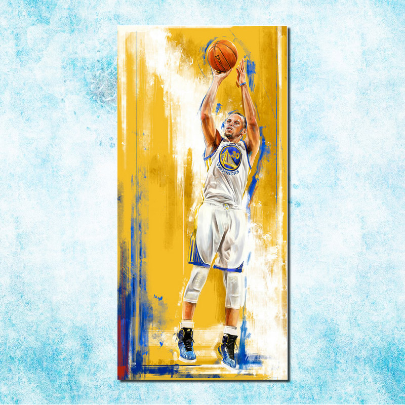 Canvas Poster Picture Basketball Stephen Curry Room-Decor Art No Silk For More More