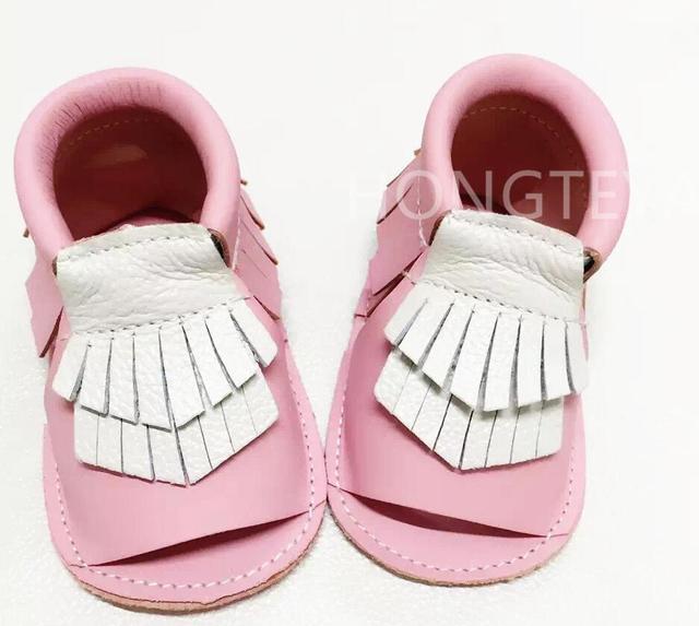 Летние Новые стили высокое качество Гарантировано 100% мягкой подошве Из Натуральной Кожи корона детские первые ходунки Дети детская обувь 2016