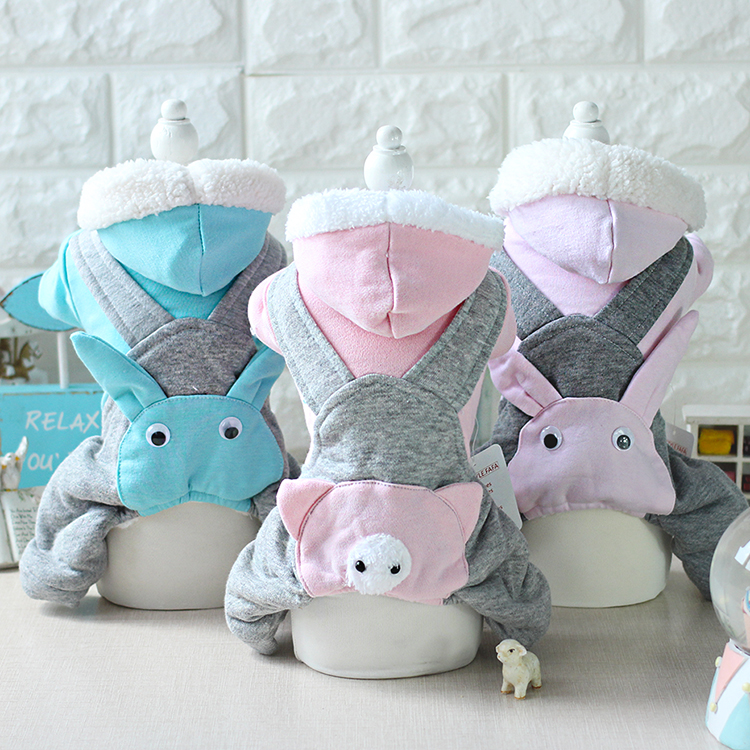 Pig Pet Costume Rabbit Rubby Rompers Jumpsuits Dog Clothes Clothes for Dogs Sale Hooded Winter Autumn 16ZF95