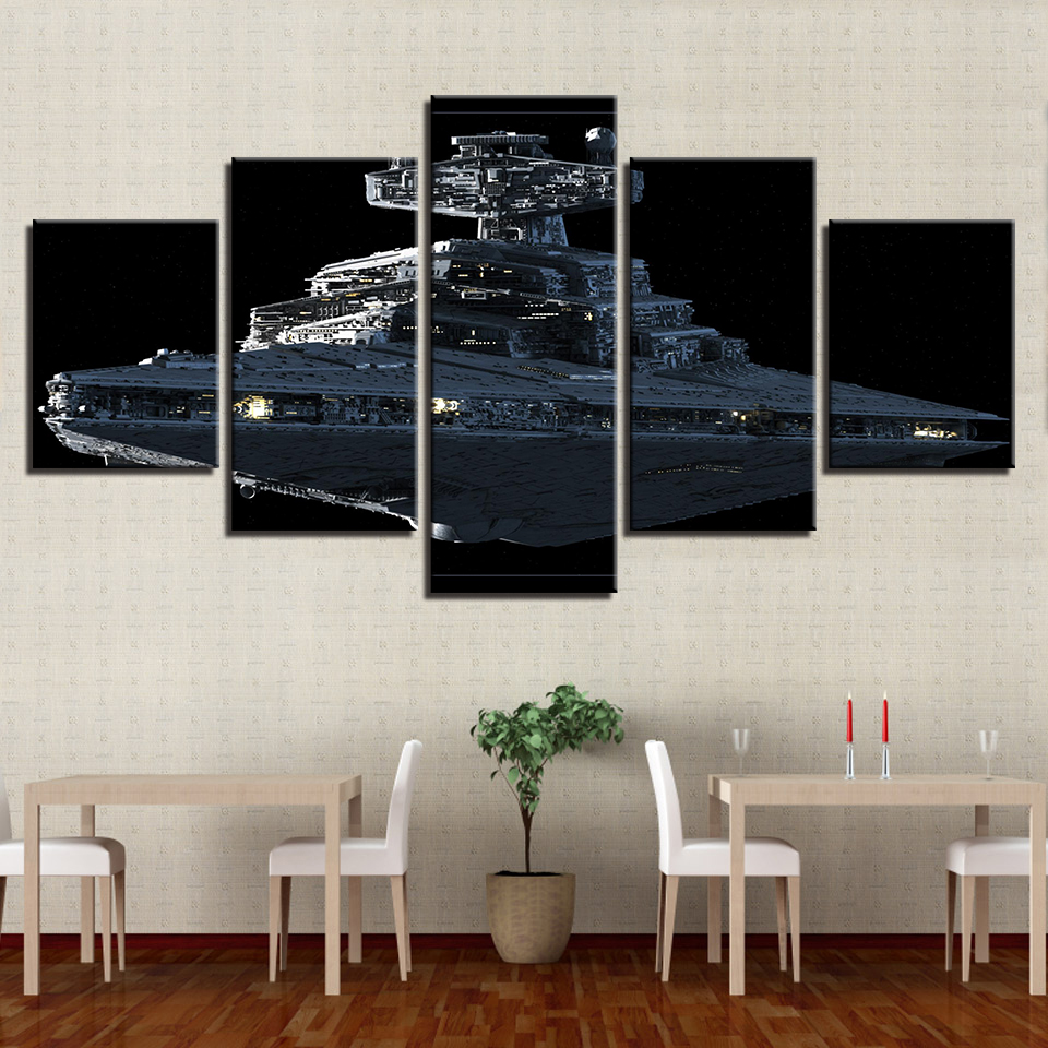 Leinwand Gemälde Wohnkultur Wohnzimmer Wandkunst Rahmen 5 Stücke ...
