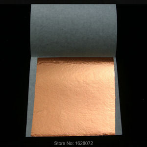 Image 3 - 500 sheets Taiwan Rose gold leaf for gilding furniture gold foil,80x85mm