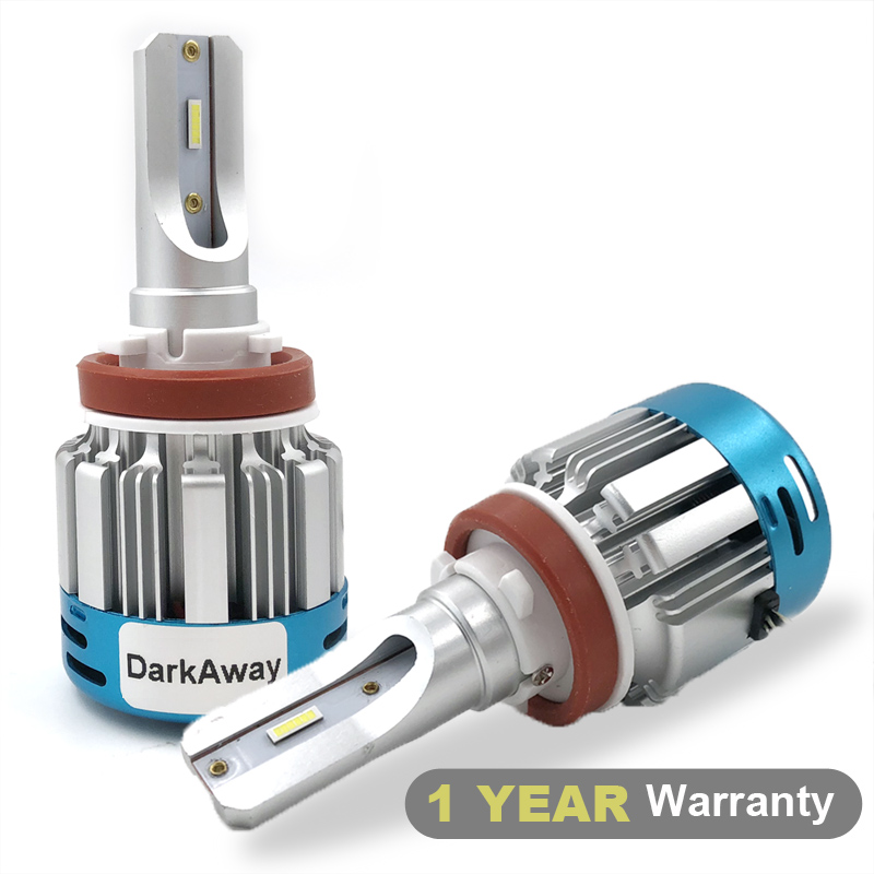 DarkAway Ultra Bright Car Headlights H1 H7 H8 H9 H11 HB3 HB4 H4 LED Bulb Auto Front Light Headlamp 60W 6000Lm 6500K White 12V image