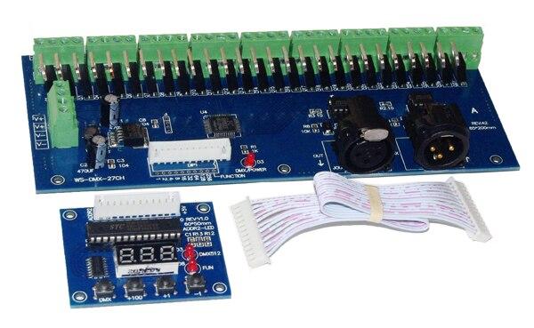 27 არხი DMX512 RGB კონტროლერი - განათების აქსესუარები - ფოტო 2