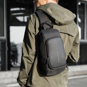 Image 1 - KAKA 럭셔리 브랜드 가슴 가방 USB 메신저 크로스 바디 가방 어깨 슬링 가방 방수 짧은 여행 휴대 전화 가방