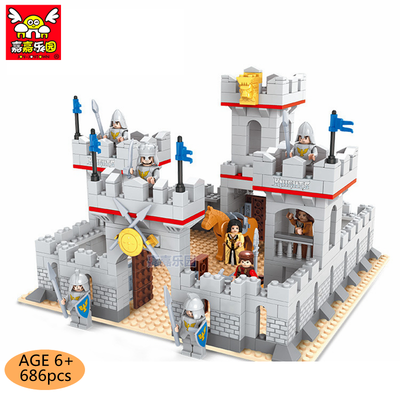 686pcs Castle DIY Building Blocks set Model Compatible with Legoings Blocks kit Toys Educational Bulk Bricks Kids Christmas Gift wange educational learning toys kids diy set toys cars plastic model kits building bricks blocks for boys 4 in 1 with motor