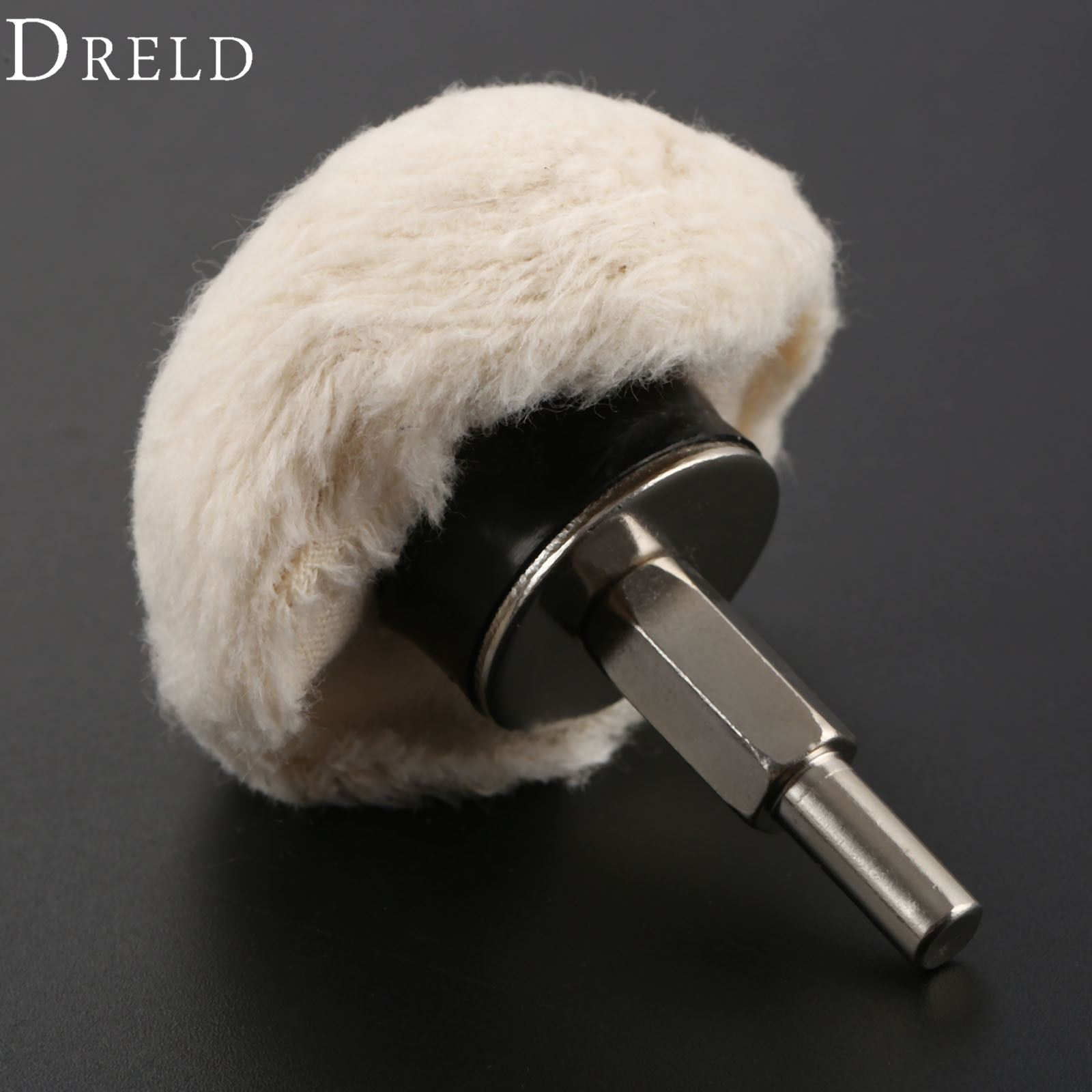 DRELD 1Pc Dremel Accessories 50mm/2 Inch 100% Cotton Dome Polishing Mop Grinding Buffing Wheel Polish Pad For Drill Rotary Tool