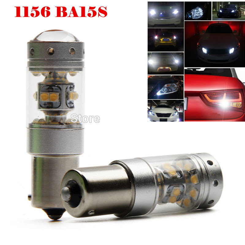 Free Shipping 2x 6000K White 1156 P21W 140W Powerful Chips LED Bulb Backup Reverse Light Canbus For BMW X3 X5 E53 E70 Z3 Z4 wljh 2x canbus 20w 1156 ba15s p21w led bulb 4014smd car backup reverse light lamp for bmw 228i 320i 328d 328i 335i m3 x1 x4 2015