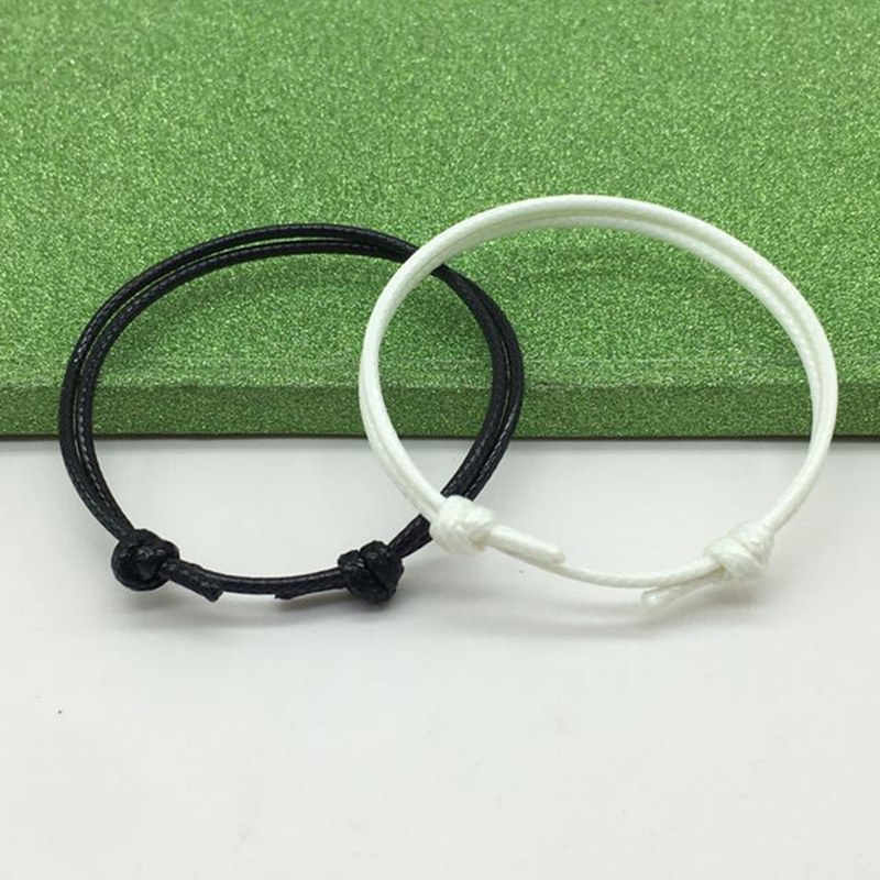 New Simple Bracelets for Women and Men Handmade Adjustable Rope Chain Jewelry Fashion Couple Bracelet Paired Bracelets 2 PC/lot