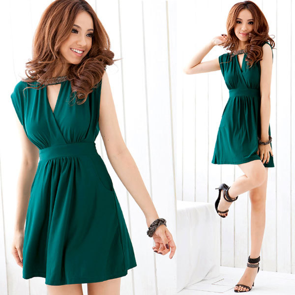 summer 2012 new arrival women's sexy tank dress sleeveless one ...
