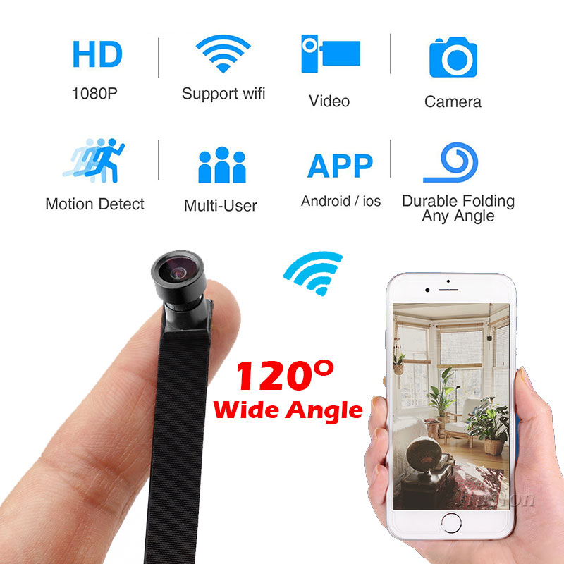 Wide Angle 1080P Mini WIFI DIY Module Flexible Camera H.264 HD Video Audio Recorder Motion Detection Camcorder Remote Micro Cam diy camera mini wifi camera full hd 1080p camcorder p2p motion detection video security with 2 4g rf remote control diy camera