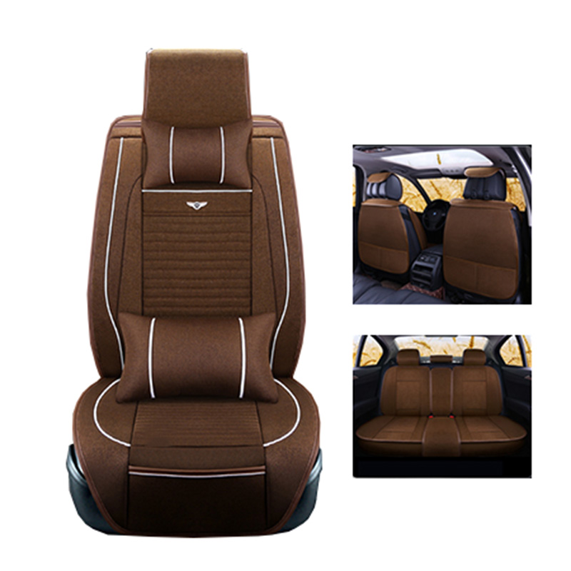New Luxery flax Universal Car seat covers For Mercedes Benz all models c200 w212 A180 B200 c300 S320L C class S GLA200 GLC260