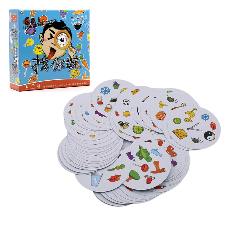 Spot It Dobble Find It Classical Card Game Board Games Focus On Training Family Party Paper Funny Toys For Kids