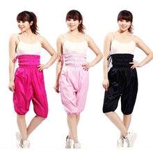 Женщины Высокой Талией Брюки Сауна Потеря Веса Аэробика Одежда Брюки Для Похудения Похудеть Одежда Сауна Костюм