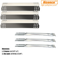 Hisencn Barbecue Outdoor Cooking Grill Repair Kit Replacement SS Burners, SS Heat Plate Tent For Nexgrill 720 0825 Gas Grill