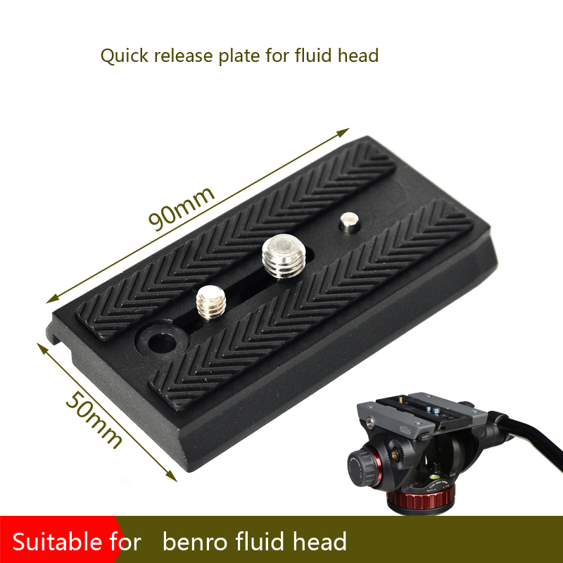 BEXIN 90mm quick release plate with 1/4and 3/8 screw Accessory for Benro ball head