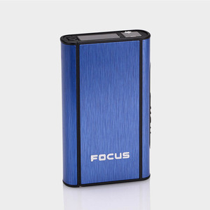 Image 3 - High Quality 1 PCS Aluminium Alloy  Ejection Holder Portable Automatic Cigarette Case Windproof Metal Box Smoke Boxes