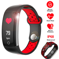 SCELTECH Q6 Heart Rate Monitor Fitness Bracelet Smart Wristband Blood Pressure/Oxygen Smart Bracelet Band IP68 Waterproof Watch