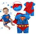 Superman Baby Girl Boy ropa de algodón de dibujos animados manga corta larga ropa los bebés cuerpo lindo Batman para niños en general Meninas de Vestir Vestir