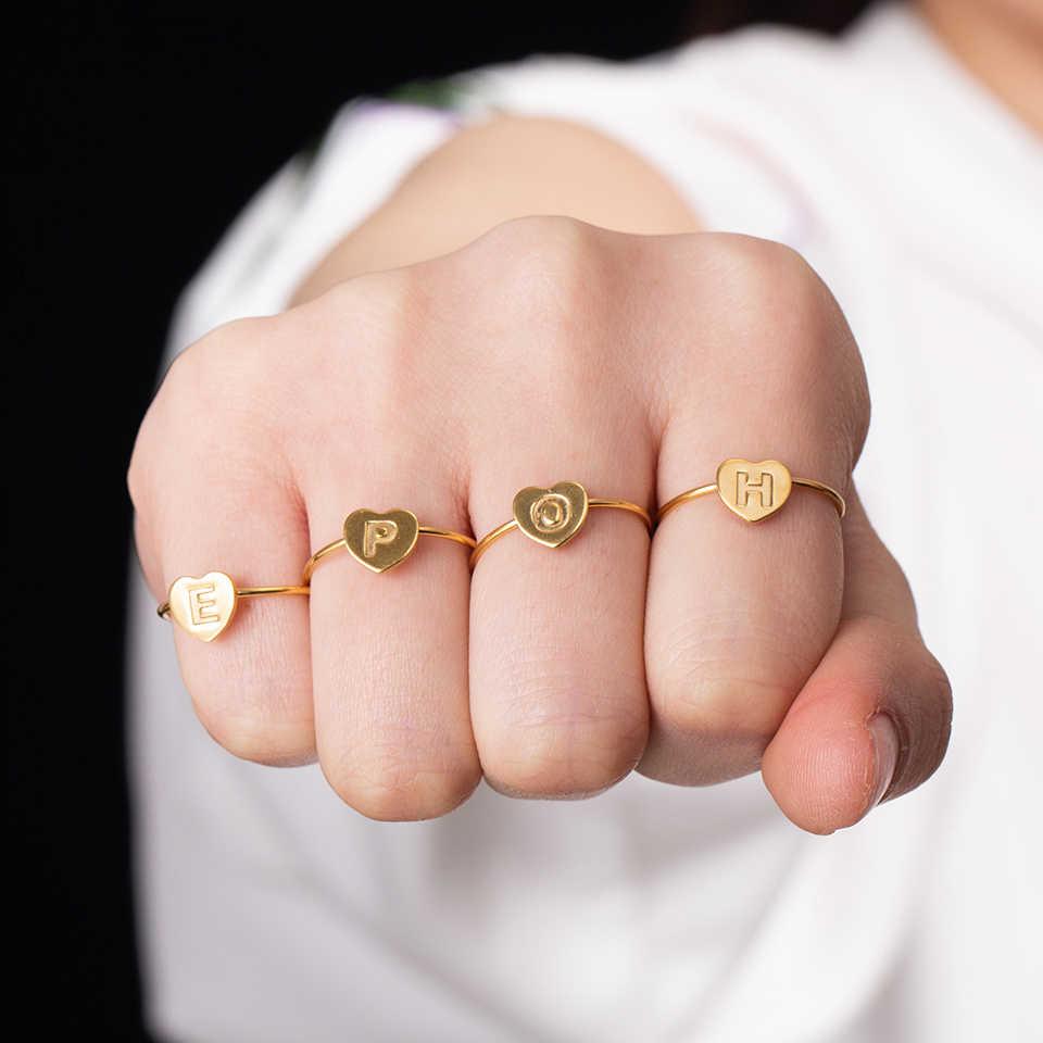 2019 หลายแฟชั่นสแตนเลสสตีลคู่แต่งงานแหวน Minimalist แหวนอุปกรณ์เสริมของขวัญวาเลนไทน์