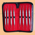 2016 NEW Dental Gracey curettes Set of 8 Periodontal Scaler Calculus Stainless Steel scaler dental tool kit teeth cleaning