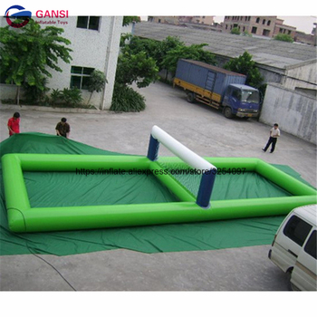 цена на Funny water sport game inflatable water volleyball,0.9mm PVC durable waterproof inflatable volleyball court for rental