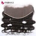 Fabwigs 13x6 cheia do laço frontal onda do corpo do laço frontal brasileira encerramento com o Cabelo Do Bebê de Orelha a Orelha Rendas Frontais Branqueada nós