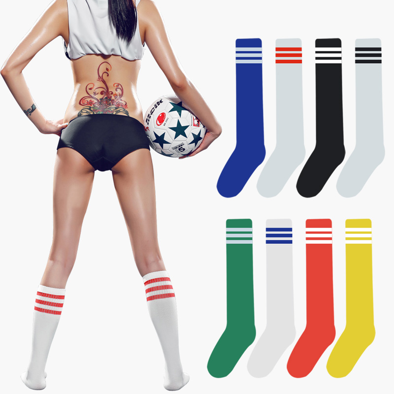 2017 Fashion Lady Women Summer Style Knee Long High Socks Stripes Solid Cotton Sexy Womens Long Socks 9 Color