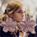 Euro-American Movie HP Hermione Crystal Zircon Earrings Fashion High Quality Flower Stud Earrings For Women Charms 20pairs/lot