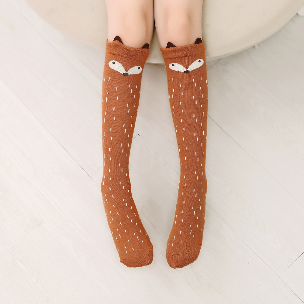 Cartoon-Cute-Children-Socks-Print-Animal-Cotton-Baby-Kids-Socks-Knee-High-Long-Fox-Socks-For-Toddler-Girl-Clothing-Accessories-5