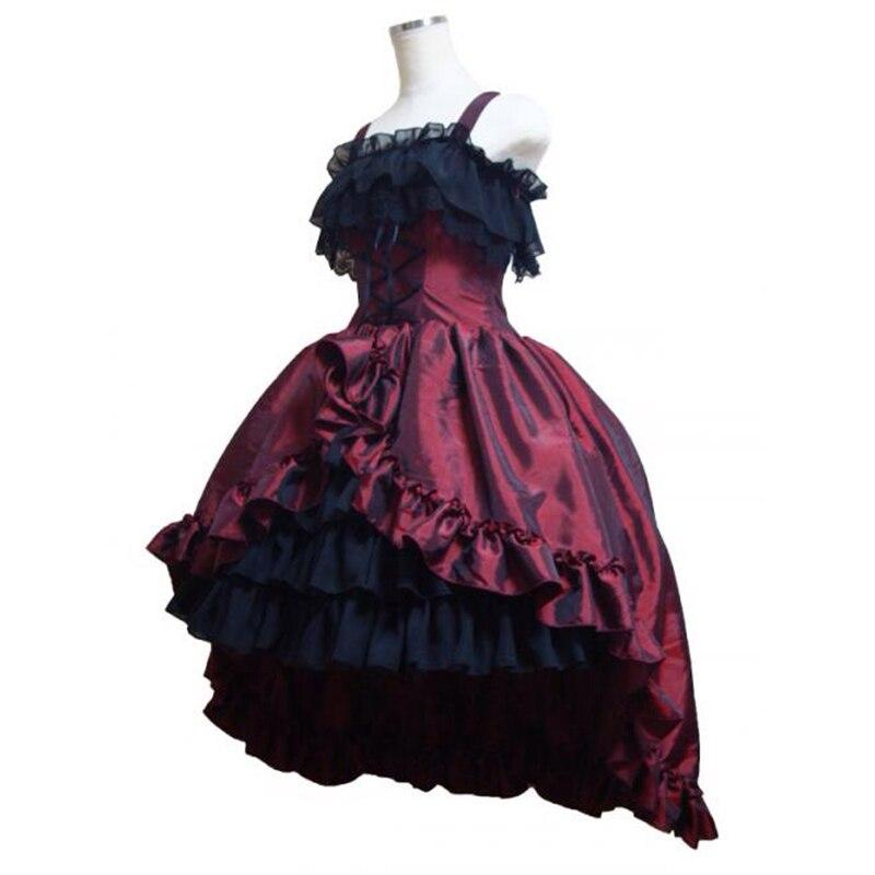 18th Century 3 couleurs gothique victorien robe de soirée rétro scène spectacle mascarade robes de bal Costumes pour les femmes
