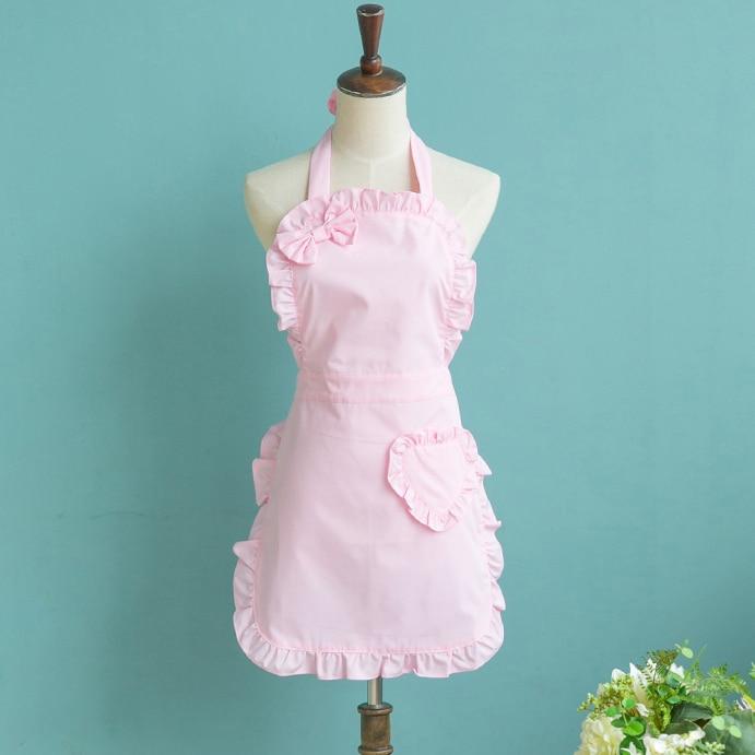 Pink Victorian Lace Apron Pinafore Maid Cinderella