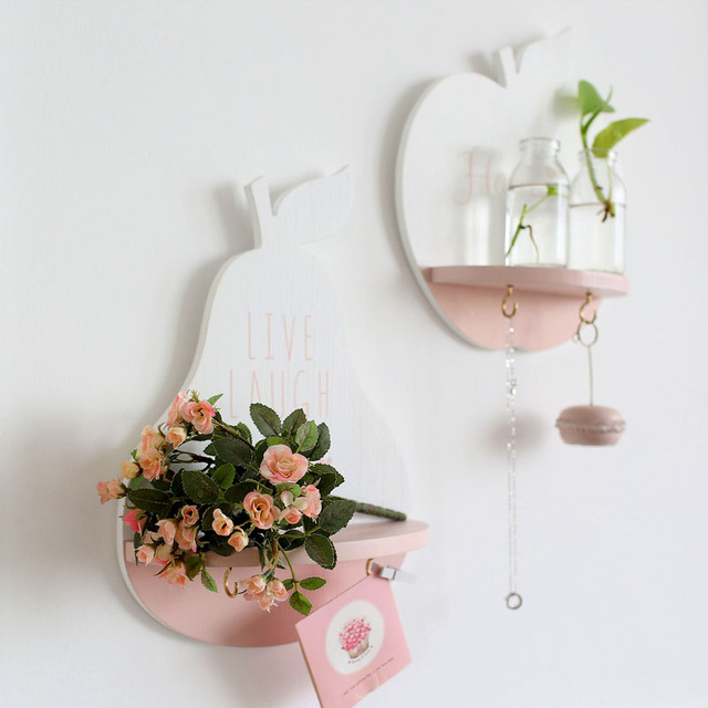 Home Decoration Apple And Pear Designed Shelf For Wall Decor