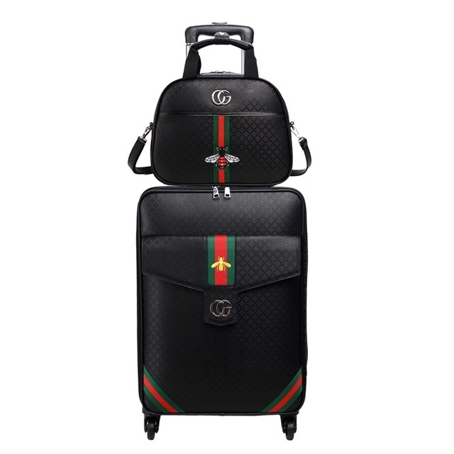Women 's Man's Travel Luggage Suitcase bag set Waterproof PU leather Box with Wheel 16″20″24″ inch Rolling Trolley Business case