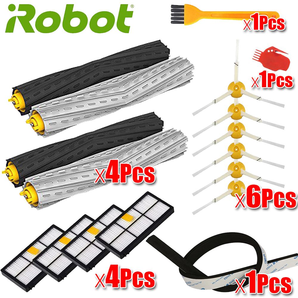 HEPA Filters Replace Brush Kit Parts Accessories For IRobot Roomba 805 860 861 865 866 870 871 880 885 960 966 980 Series