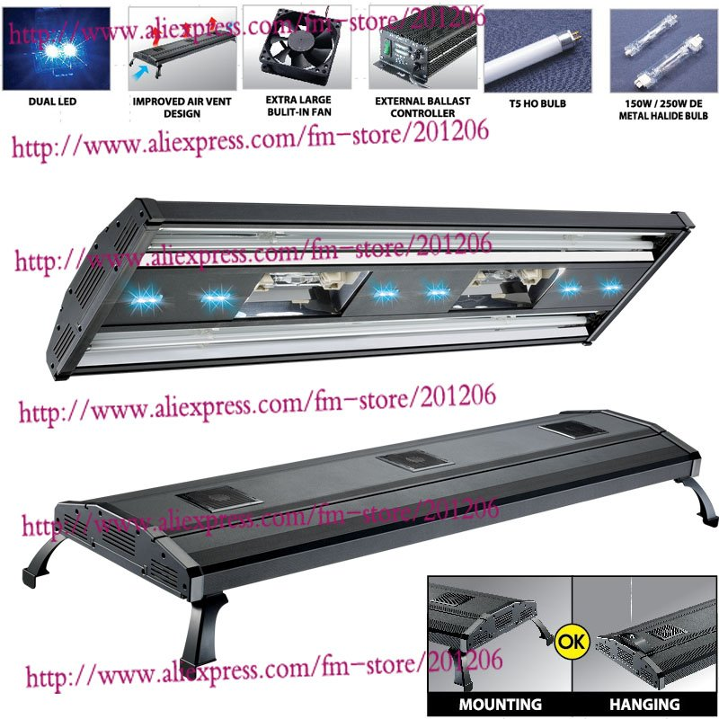 "Mh 48 Metal Halide T5 Aquarium Light 716w Coral Reef: 48"" Metal Halide HQI+ T5 516W 716W Freshwater Plant Marine"