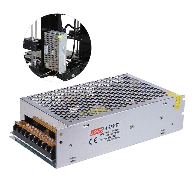 Switch Power Supply Driver Switching Power Supply Dual-input Centralized Monitoring Adaptor Transformer for  3D Printer