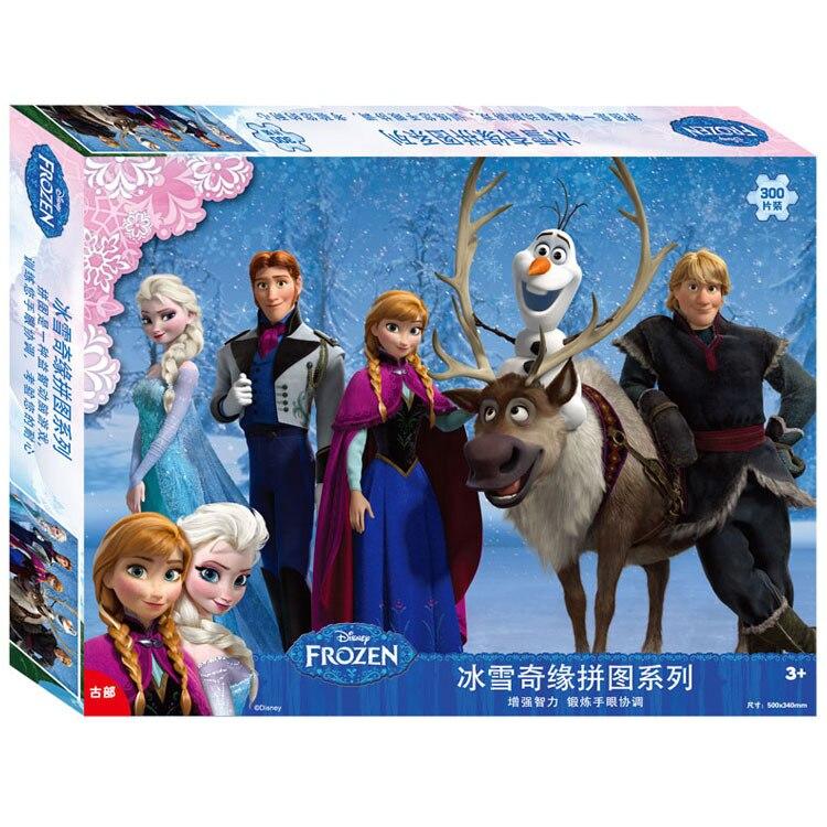 Disney 2018 новых детей Подарки головоломки Замороженные снег 300 шт. головоломки 2018 новые рождественские игрушки для детей