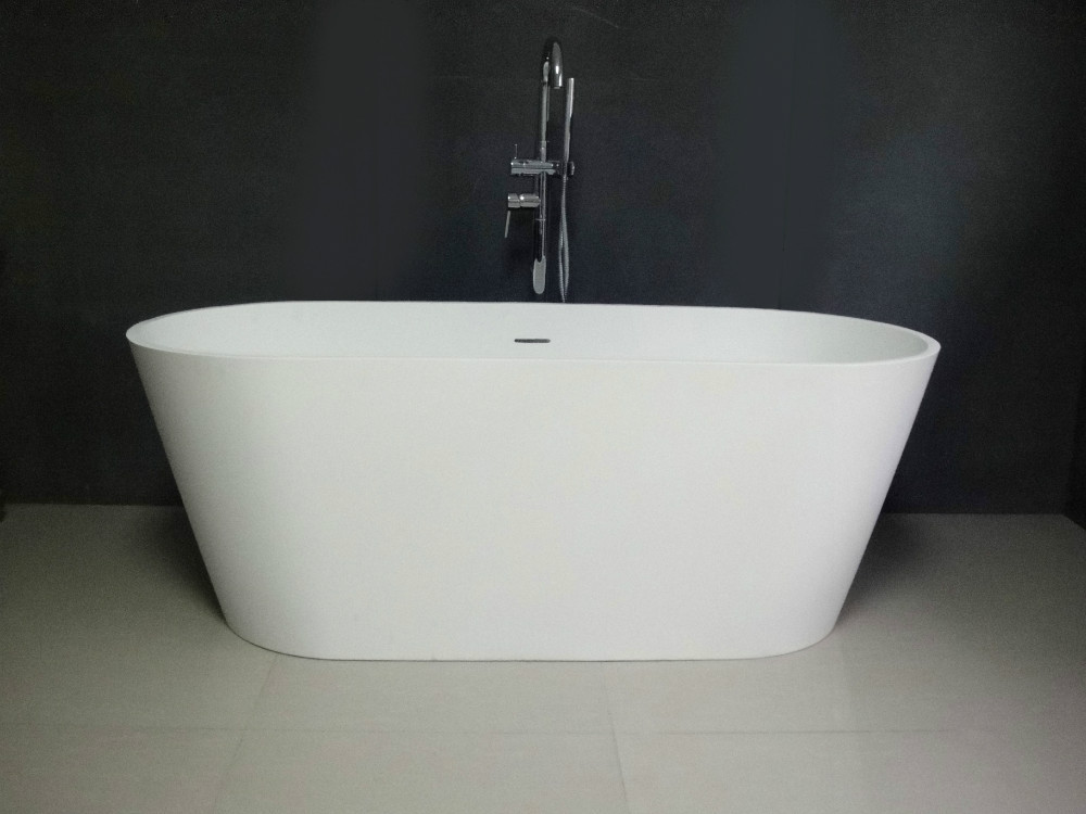 1 6 Meters Bathtub Freestanding Whirlpool Ceramic Solid Surface Alone Tub T556 In Bathtubs Whirlpools From Home Improvement On