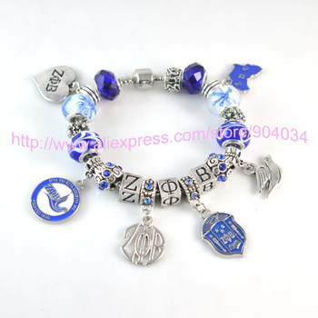 2015 Newest ZETA PHI BETA Sorority Bracelet ZPB charm bead bracelet bangle 1pc free shipping