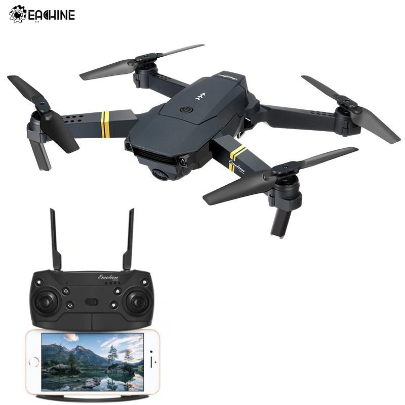 Eachine E58 WIFI FPV Com A Câmera HD Grande Angular de Alta Modo Hold Dobrável Braço RC Drone Quadcopter RTF