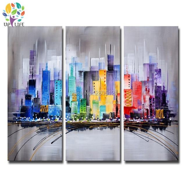 Handgemachte abstrakte stadt leinwand ölgemälde modern gestaltete ...