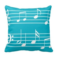 Friengly Music Sheet Note Notes Clef Clefs Song Cushion Cover Size 45x45cm Free Shipping
