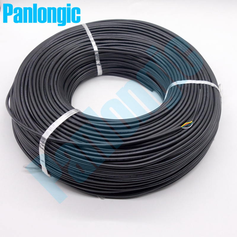 Panlongic <font><b>5</b></font> Meters UL 2464 5C 24AWG PVC Multi-<font><b>core</b></font> <font><b>Wire</b></font> Tinned Copper <font><b>Wire</b></font> Shielded Signal <font><b>Wire</b></font> Power Cable Electronic Cable image