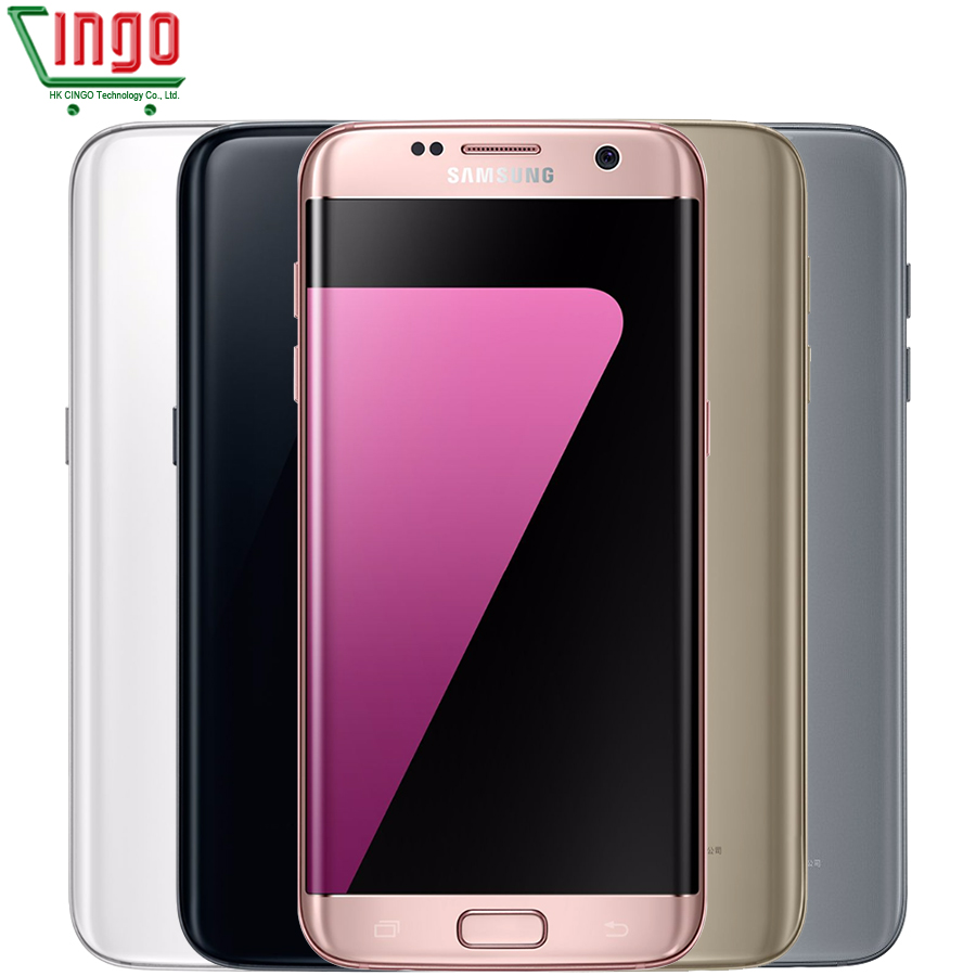 Original Samsung Galaxy S7 Edge 5.5''4GB RAM 32GB ROM Waterproof Smartphone One SIM Quad Core NFC 12MP 4G LTE 3600mAh Cellphone