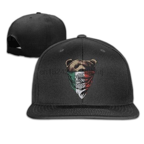 90566b6fb390 California Republic Mexican Flag Bear Design Bandana Snapback Caps