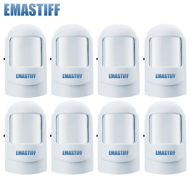 Free Shipping!8pcs/lot 315/433Mhz Wireless PIR Sensor Motion Detector For Wireless GSM/PSTN Auto Dial Home Security Alarm System